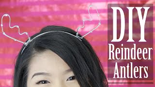 How To | Diy Holiday Reindeer Antler Headband