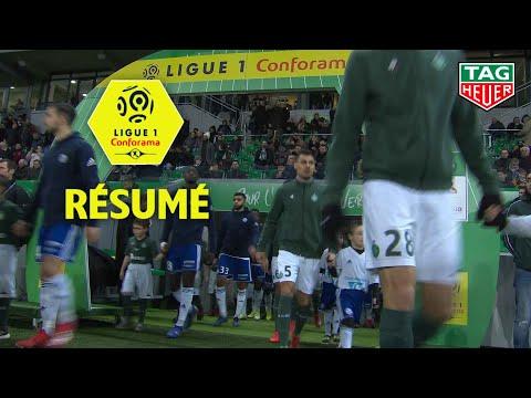 AS Saint-Etienne - RC Strasbourg Alsace ( 2-1 ) - Résumé - (ASSE - RCSA) / 2018-19