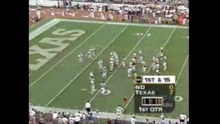 1996 Texas vs Notre Dame football game