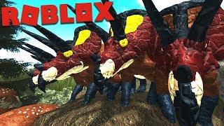 "Roblox (Era Of Terror) | Super Manada de Triceratops ""Trike"", Ataque de Ptero e T-REX | (PTBR)"