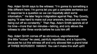 Rep. Adam Smith Refuses to let witness say more than 3 words!