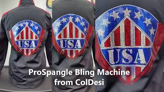ProSpangle Bling Machine | USA Jacket Back Demonstration