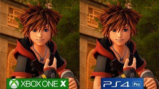Kingdom Hearts 3 - Xbox One X vs PS4 Pro Graphics Comparison, Closest Thing To Pixar Quality?