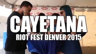 Cayetana Talk Importance of Participating in Music Scene - Riot Fest Denver 2015