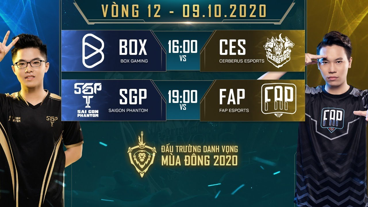 BOX có 3 điểm trước CES, FAP thất bại trước SGP – Vòng 12 Ngày 2 – ĐTDV mùa Đông 2020