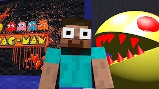 - Monster School HORROR PACMAN MINION RUSH Challenge Minecraft Animation