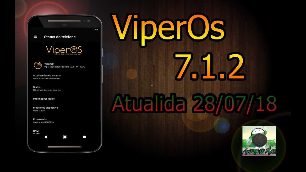 REVIEW DA ViperOS ATUALIZADA MOTO G2 ‹CANAL ANDROID MAX›
