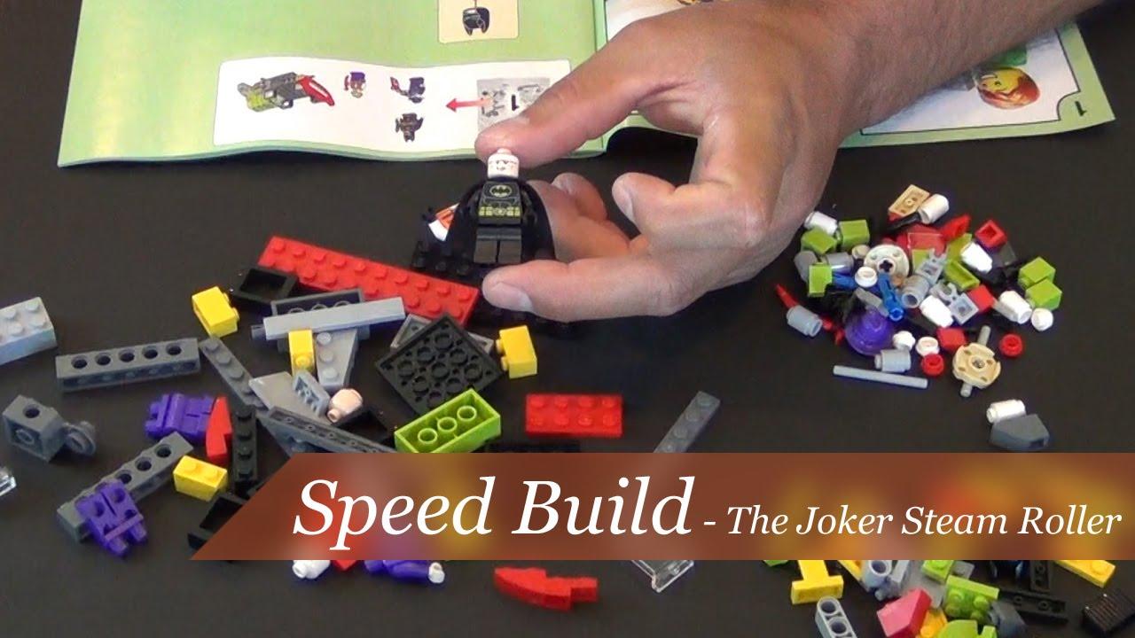 speed build lego batman the joker steam roller set. Black Bedroom Furniture Sets. Home Design Ideas