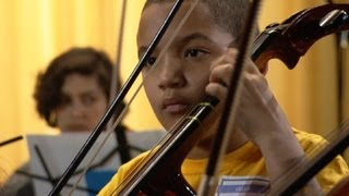 Classical musicians create harmony with young, talented partners