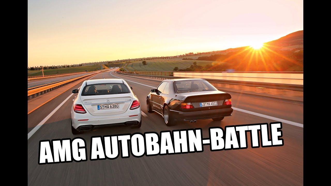 Highspeed Battle Autobahn: AMG E 63 S (2017) vs 300 CE 6.0-32V AMG (1987) \