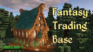 Minecraft FANTASY House - TUTORIAL - Minecraft Fantasy Villager Trading Hall Base - Nether Update
