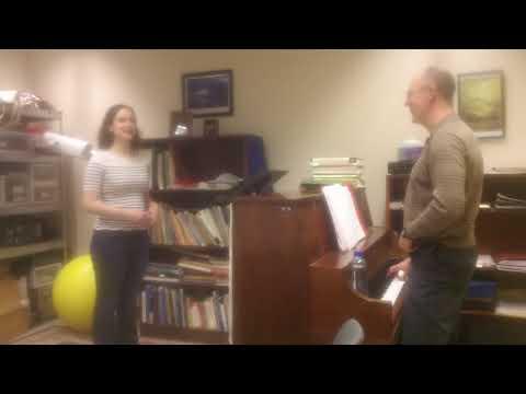 John Nix demonstration lesson with light soprano voice
