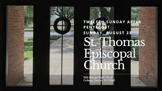 Twelfth Sunday after Pentecost   August 23, 2020
