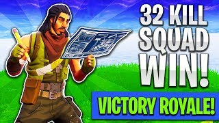 INTENSE 32 KlLL SQUAD VICTORY ROYALE! | EPIC BUILDING (Fortnite: Battle Royale)