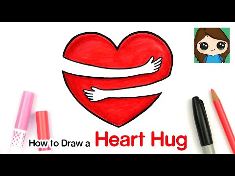 How To Draw A Love Heart Hug | Symbol #2