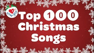 Top 100 Christmas Songs and Carols Playlist with Lyrics 2020 🎅