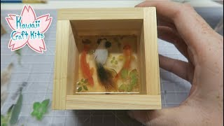 Using 3D Stickers for Resin Fish Ponds! (Kawaii Craft Kits December 2018)