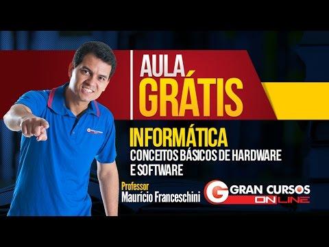 Aula Grátis | Informática | Conceitos Básicos de Hardware e Software - Prof. Maurício Franceschini