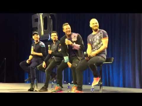 Coldplay Enters For Pepsi Super Bowl Halftime Show Press Conf #SB50