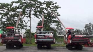 test working machine combine havester dc 68g hua heng lee