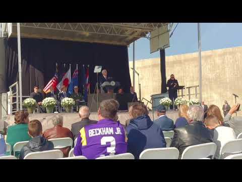 Vice President Mike Pence speaks at Flight 93 memorial