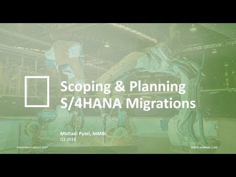 Webinar: Scoping And Planning An SAP S/4HANA Upgrade In 2018