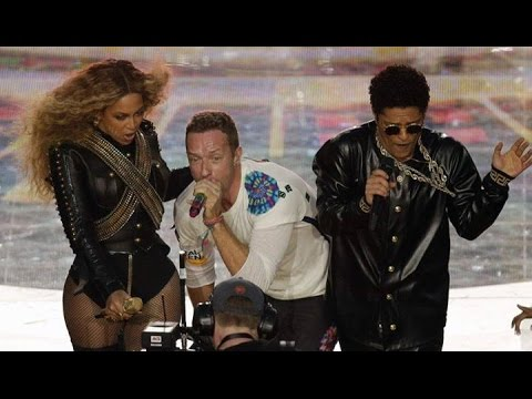 SUPER BOWL 50 Coldplay Beyonce & Bruno Mars [Performance] Live
