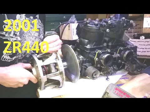 Arctic Cat Sno Pro ZR440 Engine Removal And Teardown