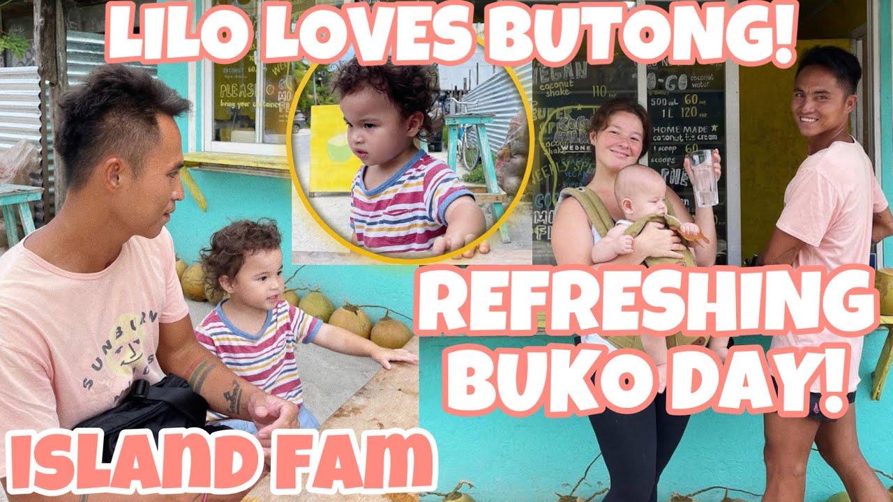 LILO buko is life butong day ngayon para kina mami Andi so refreshing at nangisda si Papa Philmar