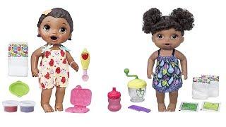 Muñecas baby alive en español: Sara prepara comiditas a las nuevas bebes con accesorios