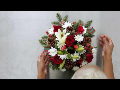 Christmas Centerpiece Ideas | Rustic Dining Table Centerpieces
