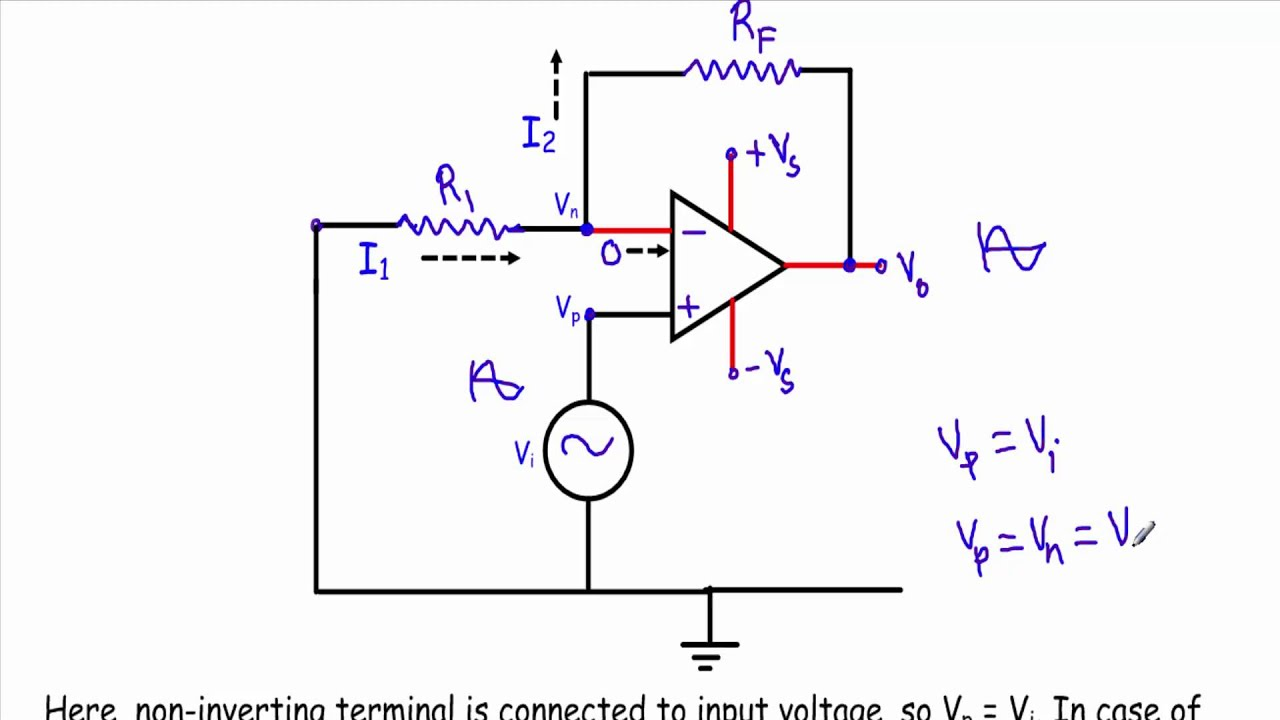 circuit diagram of non inverting amplifier vga cable wiring 15 pin op amp buffer w subtitles