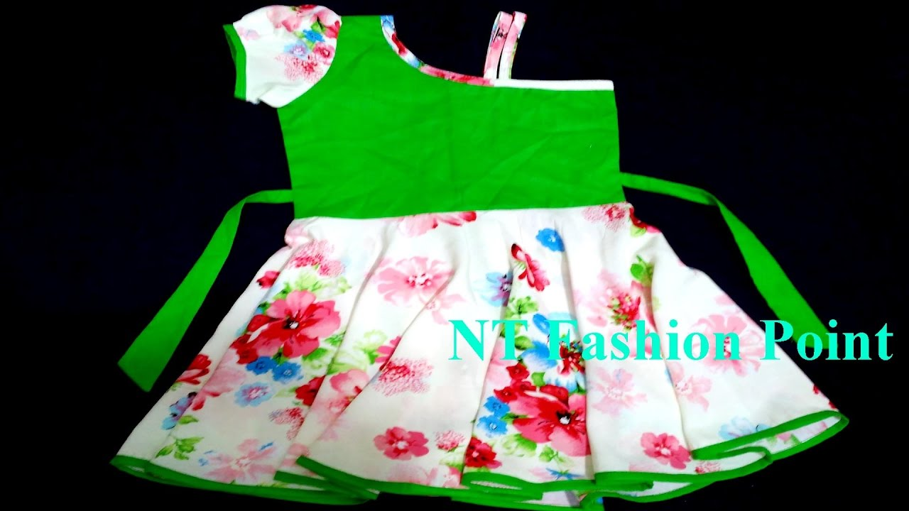 a429d7087ee4 6 MONTHS OLD GIRLS BABY DRESS CUTTING   STITCHING EASY METHOD (DIY ...