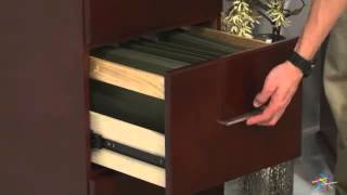 Valona Custom Four Drawer Filing Cabinet - Dark Cherry - Product Review Video