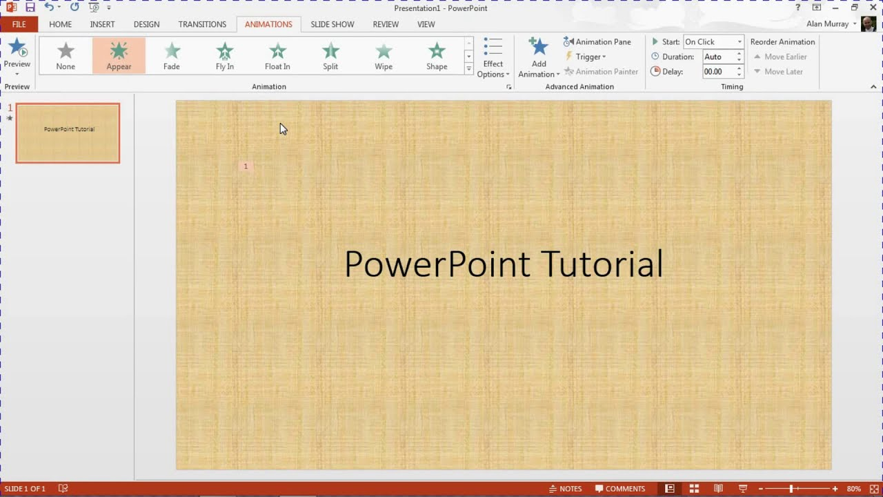 Animate Text One Letter At A Time In Powerpoint