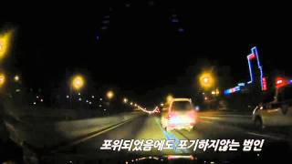 경찰차와의 40분 간의 추격전!