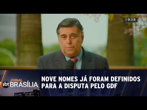 Pelo menos nove nomes já foram anunciados na disputa pela GDF | Jornal SBT Brasília 02/08/2018