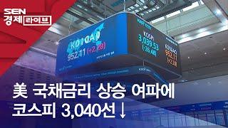 美 국채금리 상승 여파에 코스피 3,040선↓