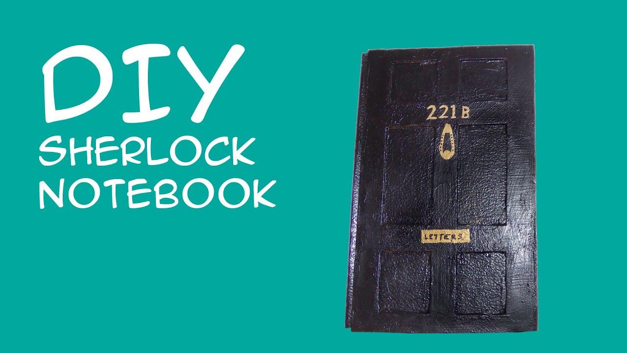DIY Sherlock Notebook 221b Baker Street Door Sketchbook (Sherlock Fandom) CraftyMcFangirl.com - YouTube  sc 1 st  YouTube & DIY Sherlock Notebook: 221b Baker Street Door Sketchbook (Sherlock ...