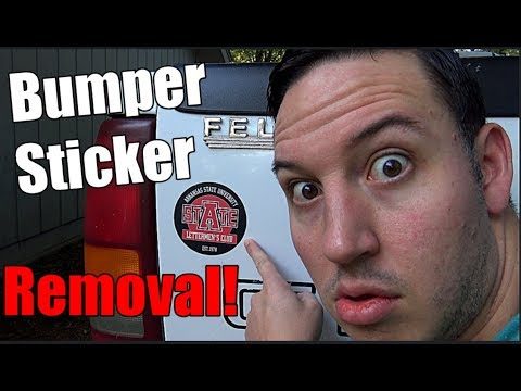 How To Remove A Bumper Sticker | Step-By-Step Video Tutorial