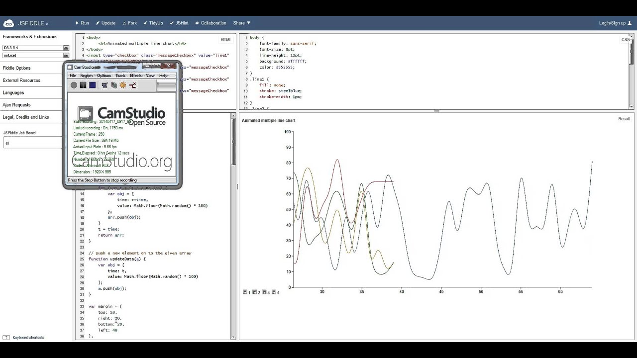 d3 chart real time on IE9 v2 with x(t - n + 1)