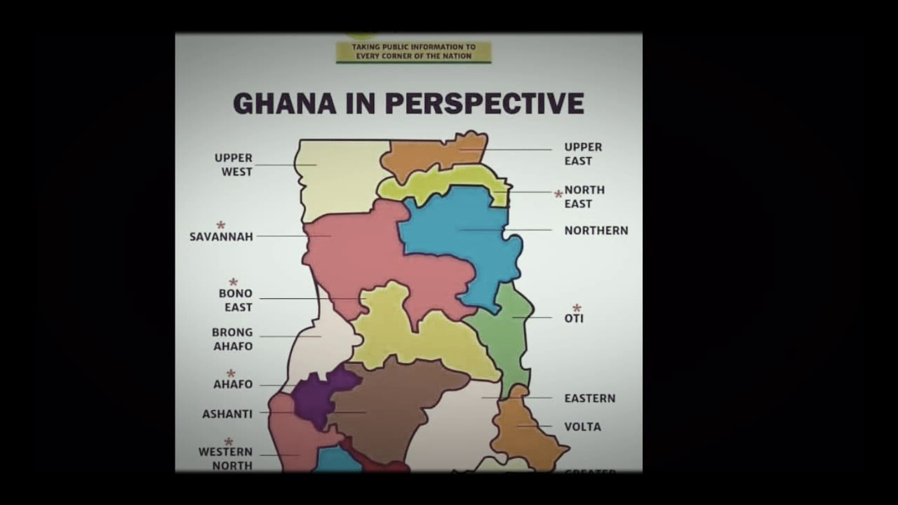 The New Ghana map. Ghana in perspective - YouTube