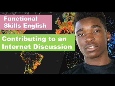 Functional Skills English: Contributing to an Internet Discussion