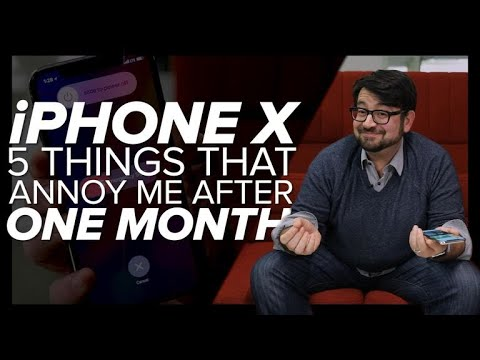 iPhone X: Five annoying things