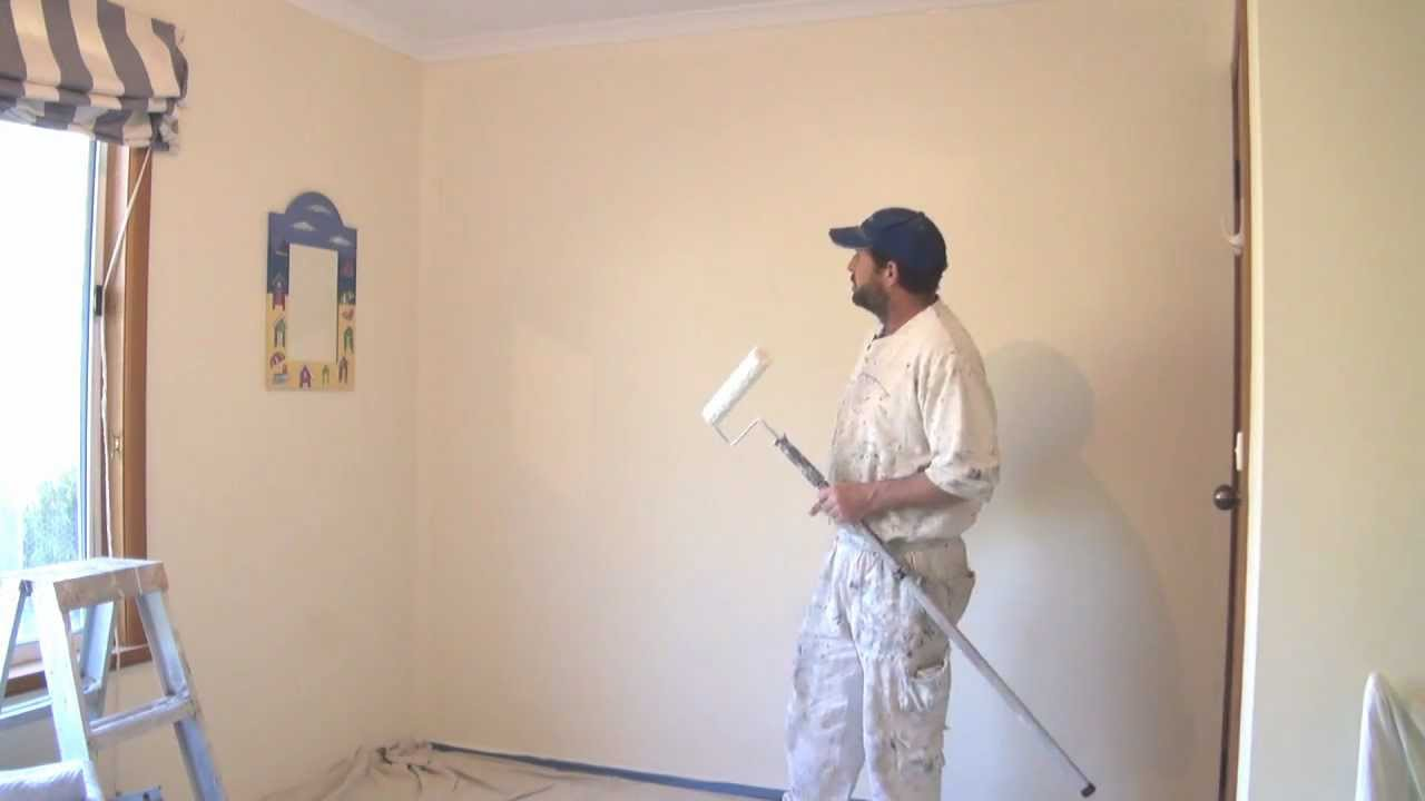 how to paint a wall using a roller the best technique youtube. Black Bedroom Furniture Sets. Home Design Ideas