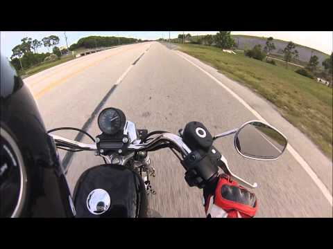 Harley Davidson Sportster 883 Top Speed!
