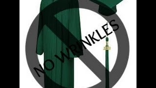 how to get the wrinkles out of your graduation gown