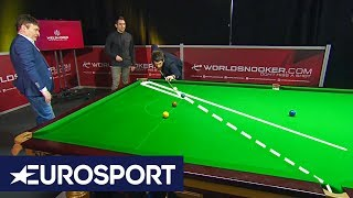 Ronnie O'Sullivan and Jimmy White: How to Hit a Screw Back Special | Eurosport