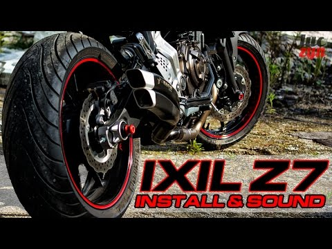 yamaha mt 07 fz 07 exhaust change ixil ixrace z7 black. Black Bedroom Furniture Sets. Home Design Ideas
