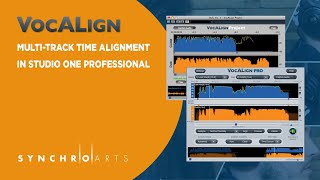 Using VocALign in Studio One Professional for Multi-Track Time Alignment